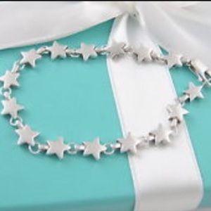 Rare retired Tiffany star bracelet 925